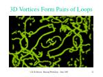 3d vortices form pairs of loops