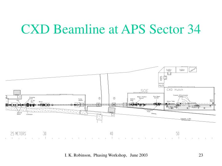 CXD Beamline at APS Sector 34