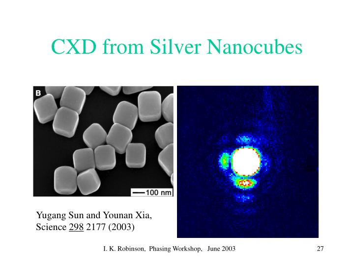 CXD from Silver Nanocubes