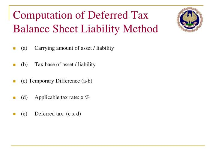 Computation of Deferred Tax