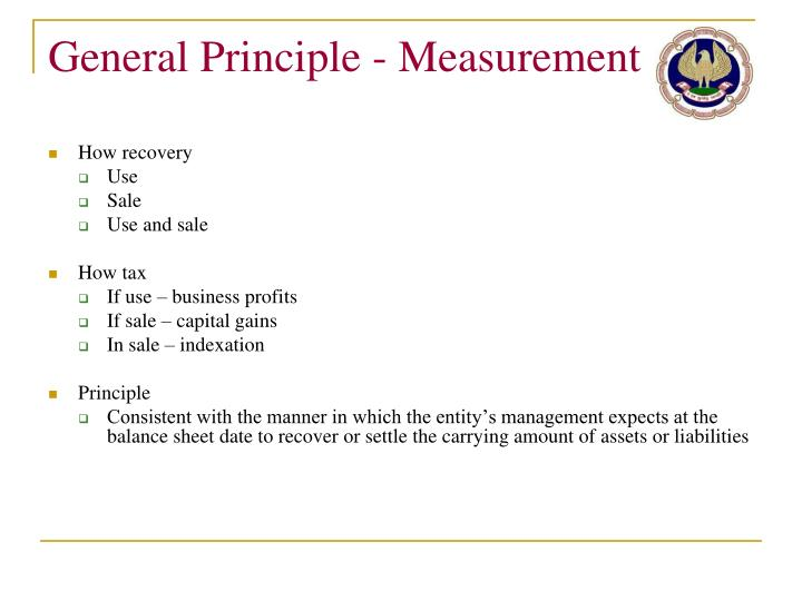 General Principle - Measurement