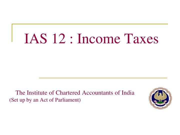 IAS 12 : Income Taxes