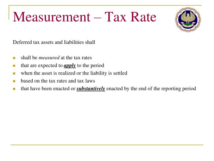 Measurement – Tax Rate