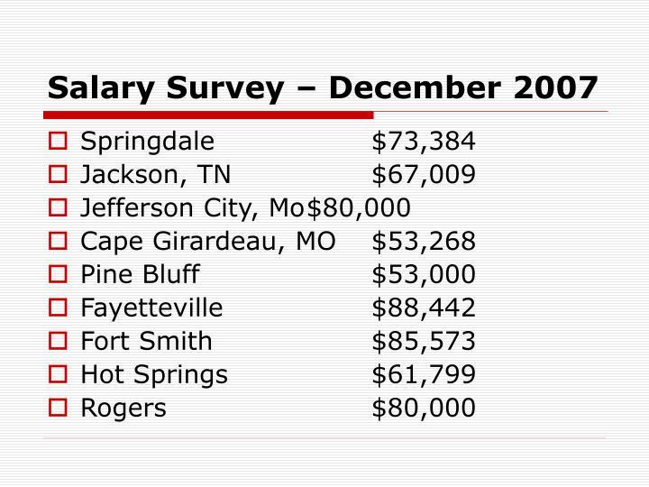 Salary Survey – December 2007