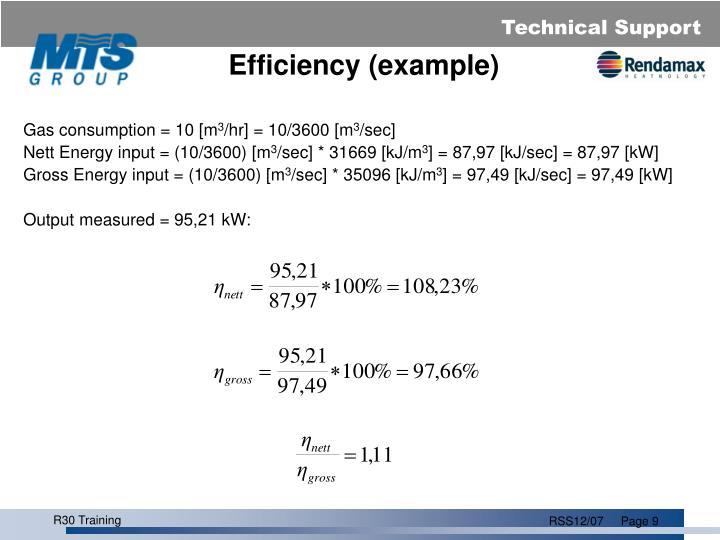 Efficiency (example)