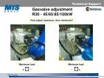 gasvalve adjustment r30 45 65 85 100kw