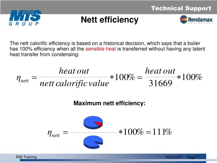 Nett efficiency
