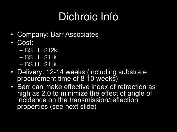 Dichroic Info
