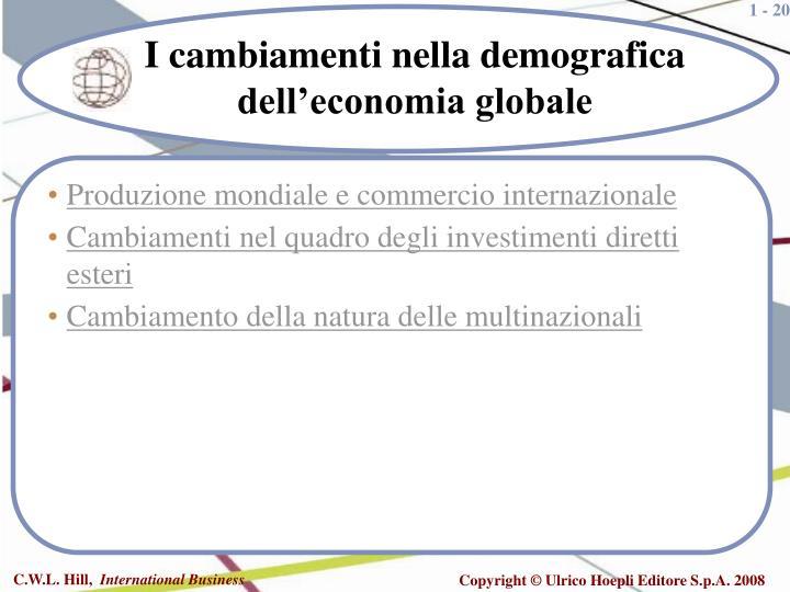 Produzione mondiale e commercio internazionale