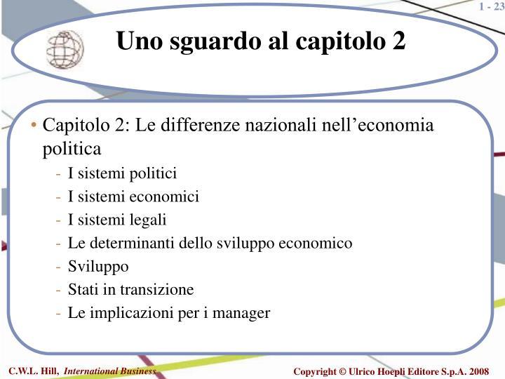 Capitolo 2: Le differenze nazionali nell'economia politica