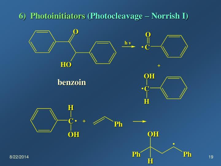 6)  Photoinitiators
