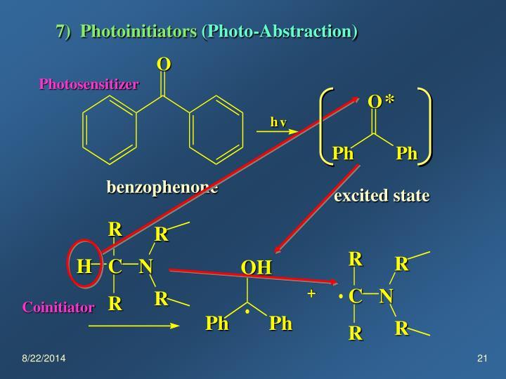 7)  Photoinitiators