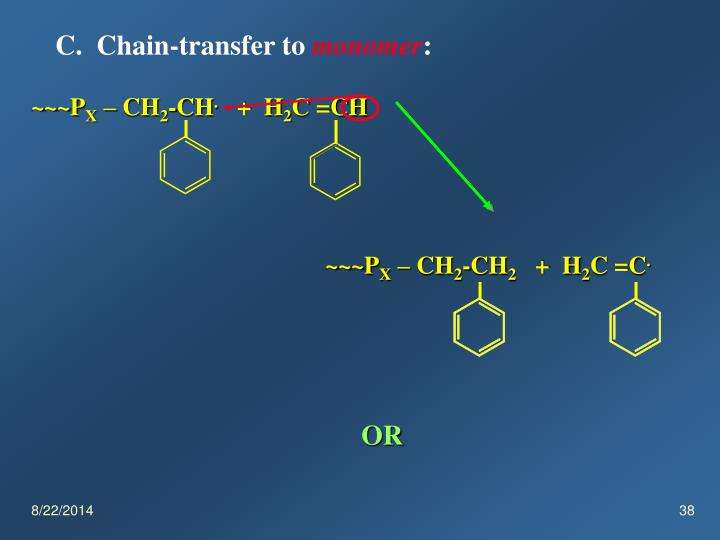 C.  Chain-transfer to