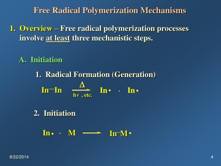 Free Radical Polymerization Mechanisms