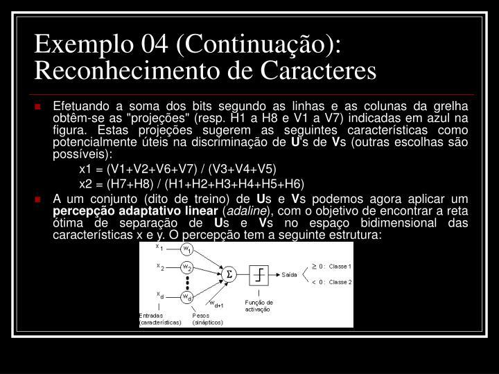 Exemplo 04 (Continuação):