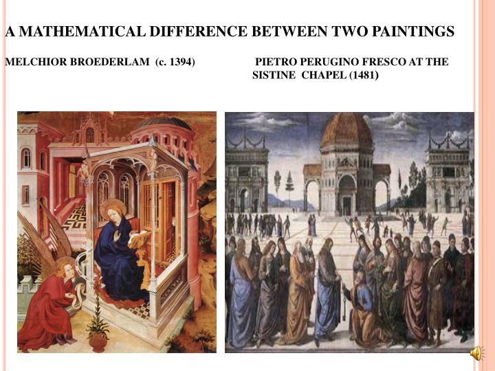 A MATHEMATICAL DIFFERENCE BETWEEN TWO PAINTINGS