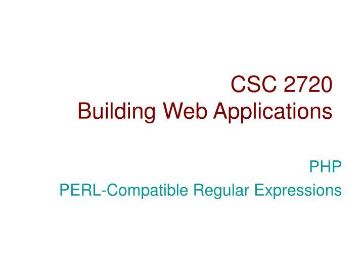 CSC 2720