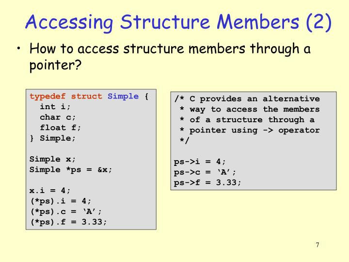 Accessing Structure Members (2)