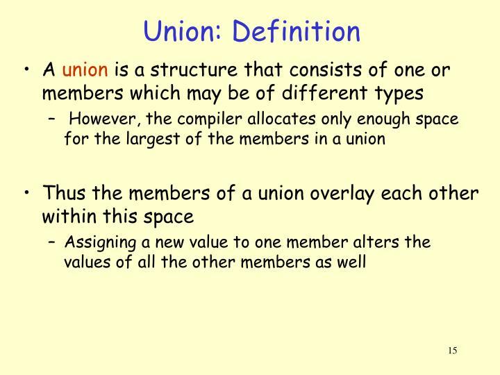 Union: Definition