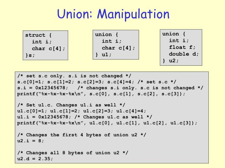 Union: Manipulation