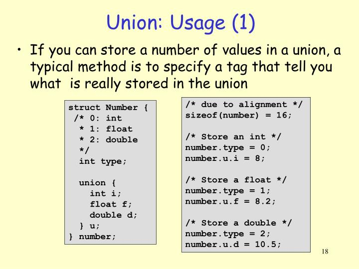 Union: Usage (1)