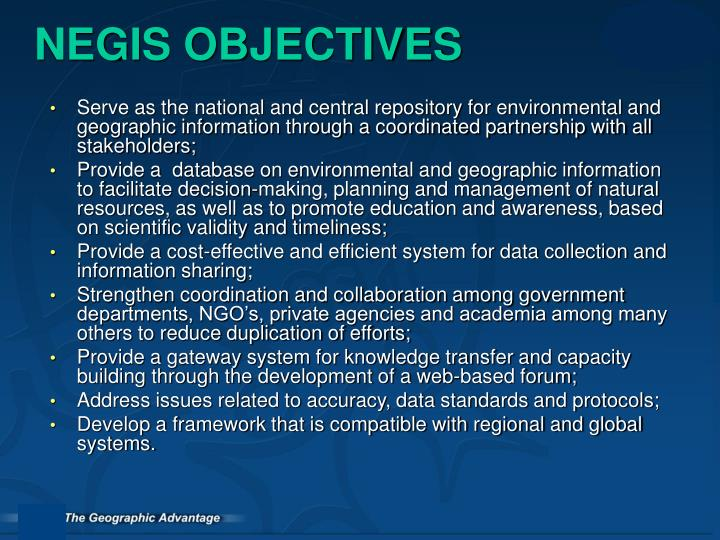 NEGIS OBJECTIVES