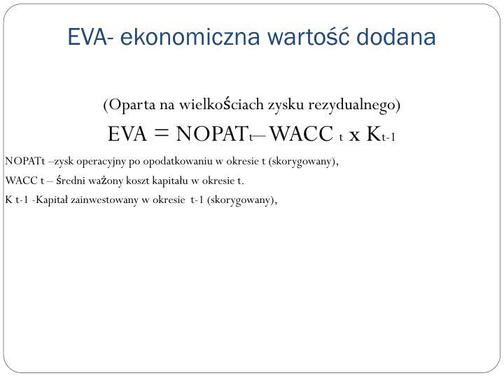 EVA- ekonomiczna wartość dodana