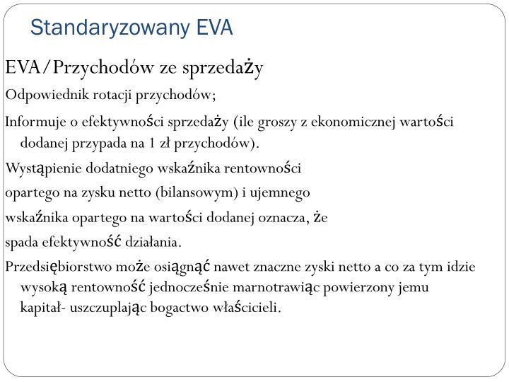 EVA/Przychodów ze sprzedaży