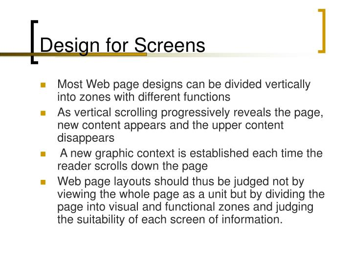 Design for Screens