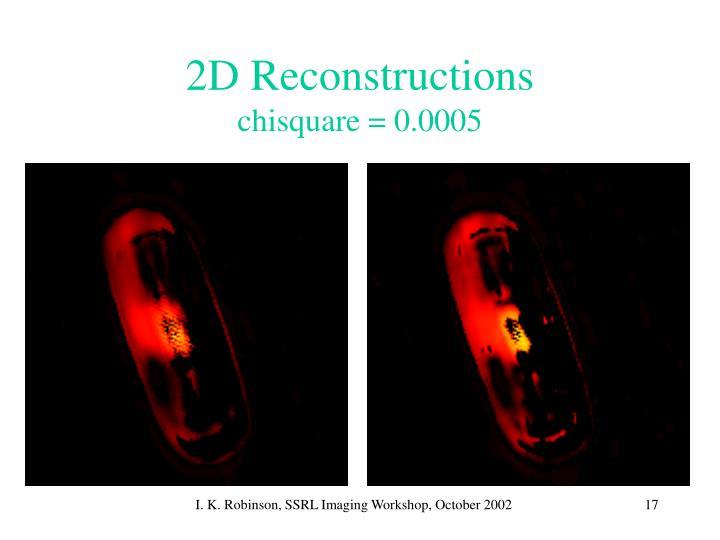 2D Reconstructions