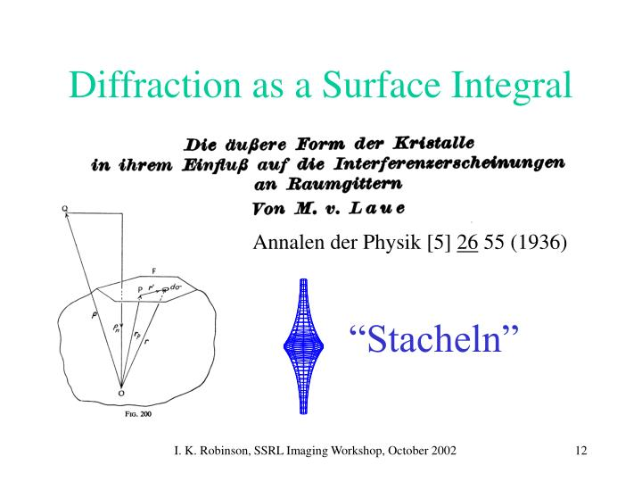 Diffraction as a Surface Integral