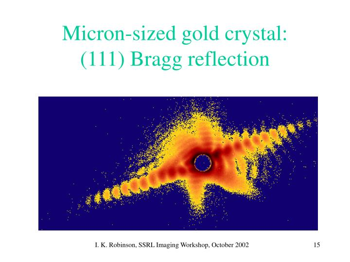 Micron-sized gold crystal:
