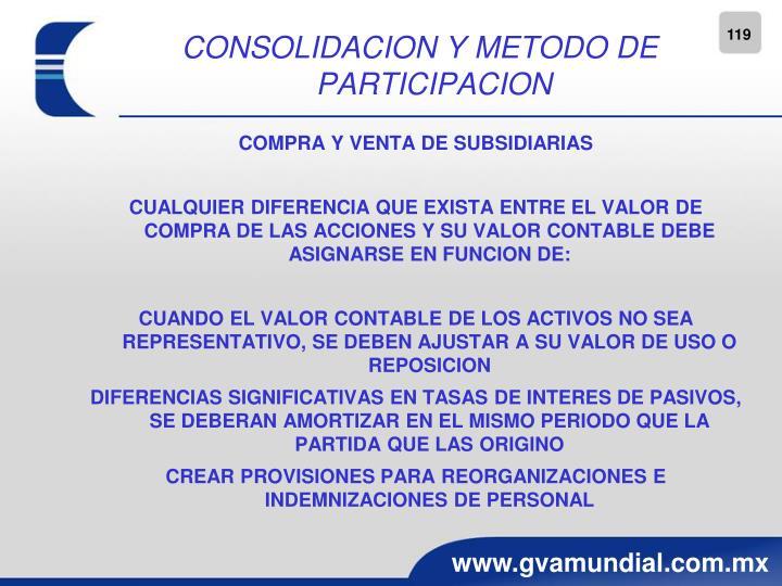 CONSOLIDACION Y METODO DE PARTICIPACION