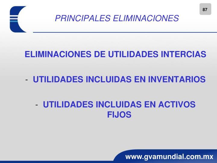 PRINCIPALES ELIMINACIONES
