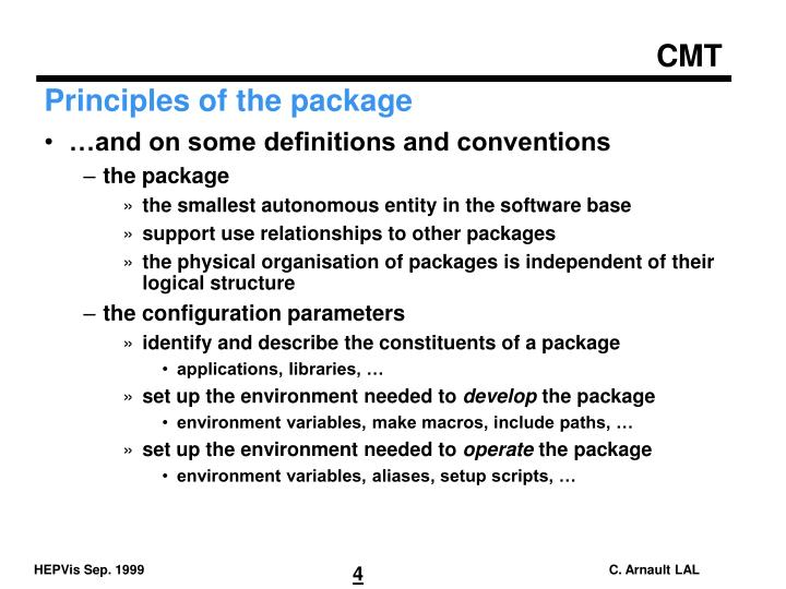 Principles of the package