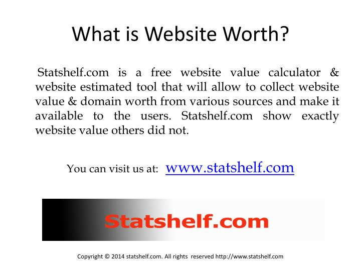 What is website worth