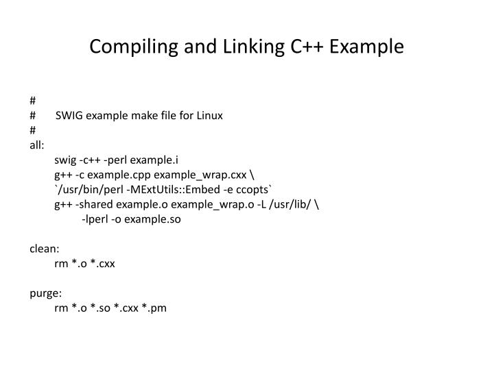 Compiling and Linking C++ Example