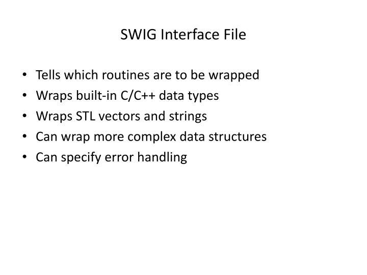 SWIG Interface File