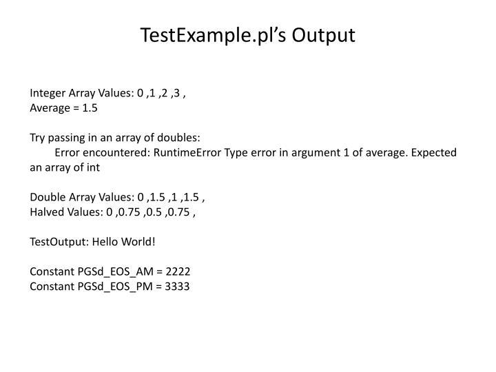 TestExample.pl's Output