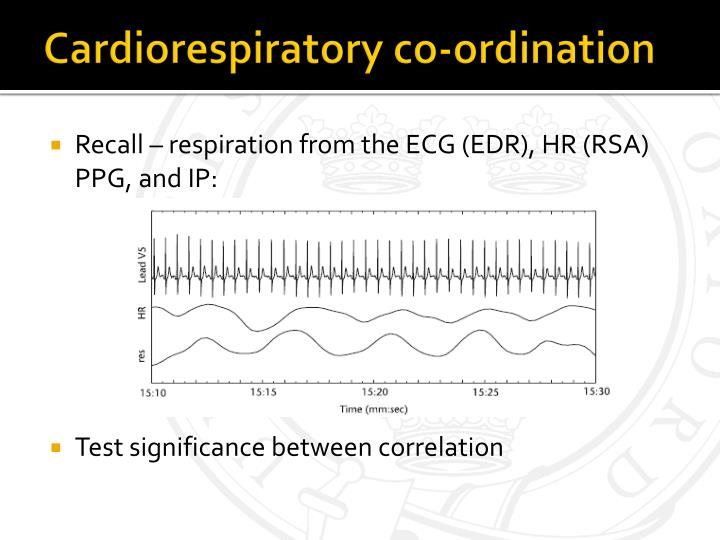 Cardiorespiratory co-ordination