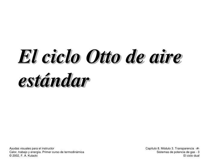 El ciclo Otto de aire estándar