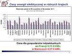 ceny energii elektrycznej w r nych krajach