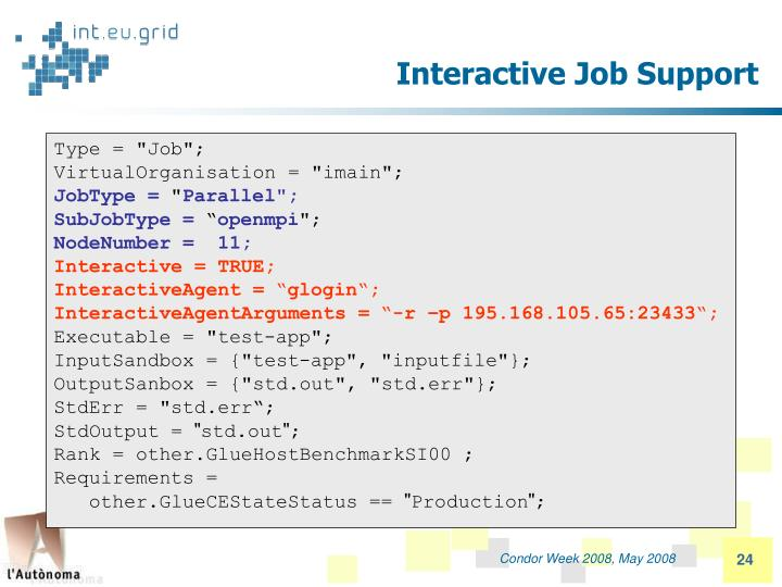 Interactive Job Support