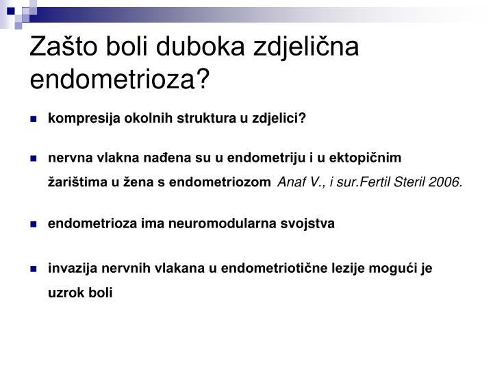 Zašto boli duboka zdjelična endometrioza?