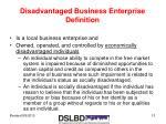 disadvantaged business enterprise definition