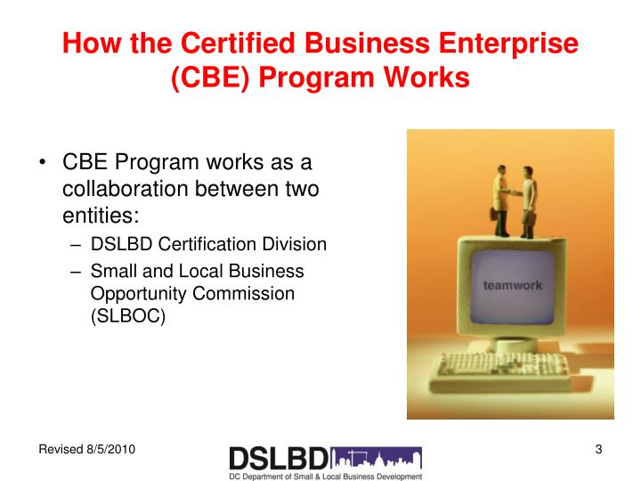 How the Certified Business Enterprise (CBE) Program Works