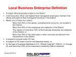 local business enterprise definition