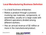 local manufacturing business definition