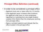 principal office definition continued