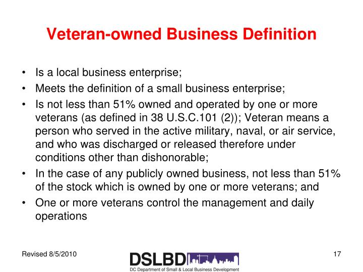 Veteran-owned Business Definition